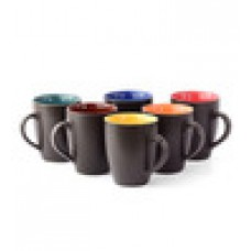 Deals, Discounts & Offers on Home Appliances - Cdi Black 250 ML Coffee Mugs with Matt Finish Set - Set of 6 at Rs. 305