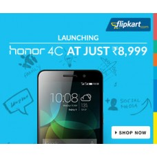 Deals, Discounts & Offers on Electronics - Launching Honor 4C Mobile phone at Rs 8,999/-