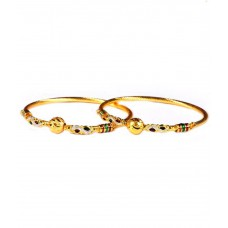 Deals, Discounts & Offers on Earings and Necklace - Luxor Golden Alloy Bangle Set
