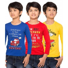 Deals, Discounts & Offers on Men Clothing - Maniac Pack of 3 Multicolour Full Sleeves T-Shirts