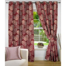Deals, Discounts & Offers on Home Decor & Festive Needs - Nuhome Decor Single Door Eyelet Curtain