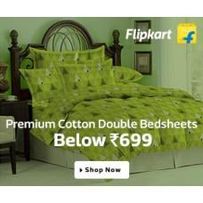 Deals, Discounts & Offers on Home Improvement - Premium Cotton Double Bedsheets Below Rs.699 in Flipkart