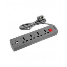 Deals, Discounts & Offers on Electronics - PowerXcel Single Switch 4 Socket Surge Protector with 2 USB charging port