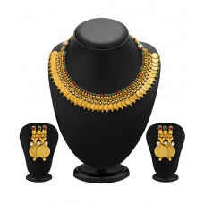 Deals, Discounts & Offers on Earings and Necklace - Sukkhi Glimmering Antique Necklace Set