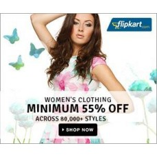 Deals, Discounts & Offers on Women Clothing - Minimum 55% Off on Women Clothing