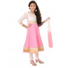 Deals, Discounts & Offers on Kid's Clothing - Flat 50% offer on Saarah Solid Anarkali