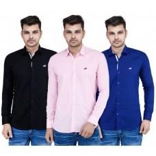 Deals, Discounts & Offers on Men Clothing - Stylox Combo of 3 Casual Shirt for Men