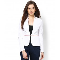 Deals, Discounts & Offers on Women Clothing - KAARYAH White Formal Orange Piping Jacket clothing offer