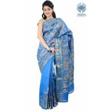 Deals, Discounts & Offers on Women Clothing - Tantuja Printed Baluchari Handloom Silk Sari