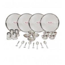 Deals, Discounts & Offers on Home & Kitchen - Shubham 24-piece Stainless Steel Dinner Set