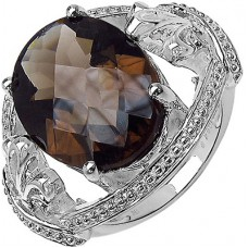 Deals, Discounts & Offers on Women - Voylla Smoky Topaz Studded Crafted From 925 Sterling Silver