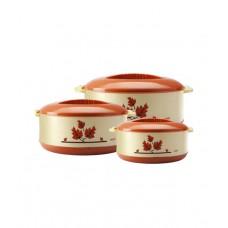 Deals, Discounts & Offers on Home & Kitchen - Milton Orchid Junior Casserole Set - 3 Pcs