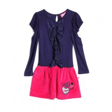 Deals, Discounts & Offers on Baby & Kids - Barbie Full Sleeves Black & Pink Color Dress For Kids