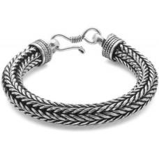 Deals, Discounts & Offers on Men - Voylla Artifictial Oxidised Alloy Silver Plated Bracelet