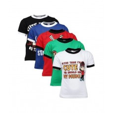 Deals, Discounts & Offers on Baby & Kids - Goodway Attitude Themed Pack of 5 T-Shirts For Boys