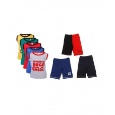 Deals, Discounts & Offers on Baby & Kids - Goodway Junior Boys Pack of 5 Attitude Vest T-Shirts & 3 Pack Fashion Shorts Combo Pack