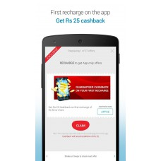 Deals, Discounts & Offers on Recharge - Install Airtel App and Get Rs 25 Cashback immediately