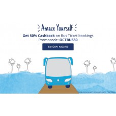 Deals, Discounts & Offers on Travel - Get 50% Cashback on Bus ticket bookings