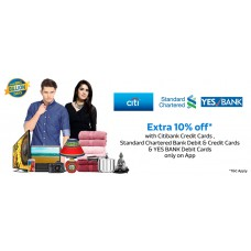 Deals, Discounts & Offers on Men - Extra 10% off with Citibank Credit Cards issued in India on transactions ONLY on the Flipkart Mobile Application.