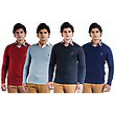 Deals, Discounts & Offers on Men Clothing - Combo of 4 Men Full Sleeves Sweaters at Rs 1169 only