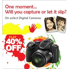 Deals, Discounts & Offers on Cameras - Get 40% Off on Select digital Camera