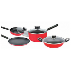 Deals, Discounts & Offers on Home Appliances -  Baltra Combo of Non Stick Kadhai, Sauce Pan, Dosa Tawa And Fry Pan With Lid - BTN 209 Rs 2199 /-