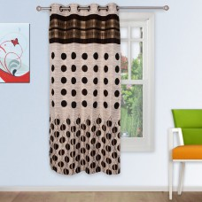 Deals, Discounts & Offers on Home Decor & Festive Needs - Story @ Home Brown Jacquard 1 pc Window curtain-5 feet
