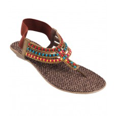 Deals, Discounts & Offers on Foot Wear - Mochi Brown Sandal offer in deals of the day