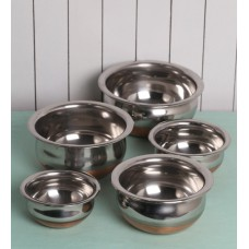 Deals, Discounts & Offers on Home & Kitchen - Kitchen Cook'S 5pcs Copper Bottom Prabhu Chetty