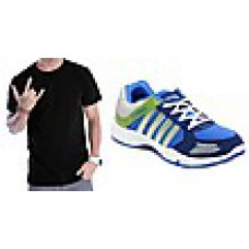 Deals, Discounts & Offers on Foot Wear - Combo Of Colombus Sports Shoes And T-shirt at Rs 599 only