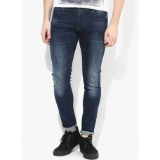 Deals, Discounts & Offers on Men Clothing - G-STAR RAW Blue Solid Skinny Fit Jeans