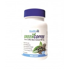 Deals, Discounts & Offers on Health & Personal Care - Healthvit 100% Pure Green Coffee Bean Extract 800mg- 60 Capsules