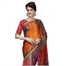 Deals, Discounts & Offers on Women Clothing - Crepe Jacquard Saree With Blouse