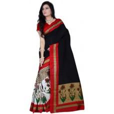 Deals, Discounts & Offers on Women Clothing - Flat 80% offer on Singh Vimal Printed Bhagalpuri Pure Silk Sari