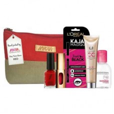 Deals, Discounts & Offers on Health & Personal Care - Flat 18% offer on Nykaa Day Time Glam Red Pouch