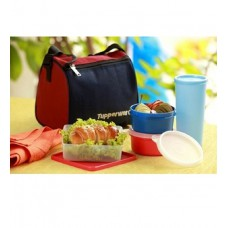 Deals, Discounts & Offers on Accessories - Tupperware Best Plastic Lunch Box with Insulated Bag - Set of 4