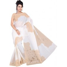 Deals, Discounts & Offers on Women Clothing - Flat 68% offer on Gugaliya Polka Print Daily Wear Polycotton Sari