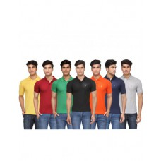 Deals, Discounts & Offers on Men Clothing -  Rico Sordi Multicolour Polo-Neck T Shirt