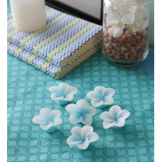 Deals, Discounts & Offers on Home Decor & Festive Needs - Skycandle Blue Flower Floating Candles - Set of Six