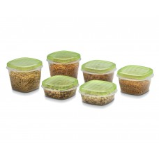 Deals, Discounts & Offers on Kitchen Containers - Polyset Fridge Plastic Storage Set, 6 Pieces