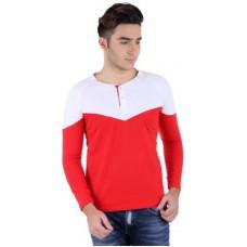 Deals, Discounts & Offers on Men Clothing - Flat 59% offer on Bigidea Solid Men's Henley T-Shirt