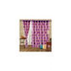Deals, Discounts & Offers on Home Decor & Festive Needs - Cortina Punto Purple Window Curtain