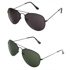 Deals, Discounts & Offers on Accessories - Just Colour Multicolor Aviator Sunglasses - Combo