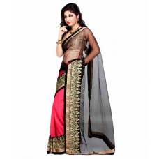 Deals, Discounts & Offers on Women Clothing - The Designer House Multi Color Chiffon Saree