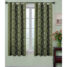 Deals, Discounts & Offers on Home Decor & Festive Needs - Flat 80% offer on Polyester Geometrical Window Curtain - Pack Of 2