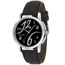 Deals, Discounts & Offers on Men - Asgard Black Leather Round Analog Watch For Men