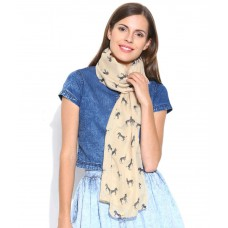 Deals, Discounts & Offers on Women Clothing - Shrayst Fashion Beige Polyester Casual Stole