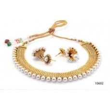 Deals, Discounts & Offers on Earings and Necklace - YouBella Traditional Pearl Temple coin Necklace Set for Women