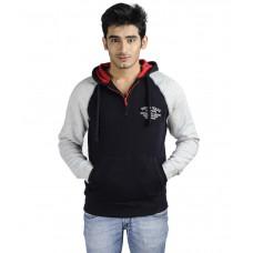 Deals, Discounts & Offers on Men Clothing - Flat 63% offer on Austin Wood Navy Fleece Hooded Sweatshirt