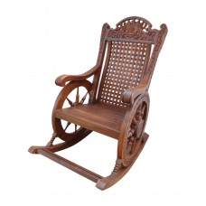 Deals, Discounts & Offers on Furniture - Sheesham Wood Chariot Rocking Chair